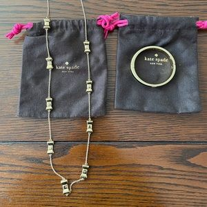 Kate Spade Bow Necklace and Hinged Bracelet